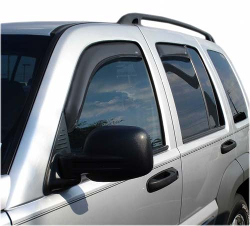 Auto VentShade InChannel Side Wind Deflectors 08-12 Jeep Liberty
