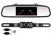 "Universal Wireless Backup Camera System 4.3"" Mirror Monitor"
