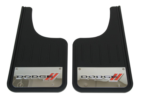 "Plasticolor 2-Pc Universal Stainless ""Dodge"" Mud Flap Set"