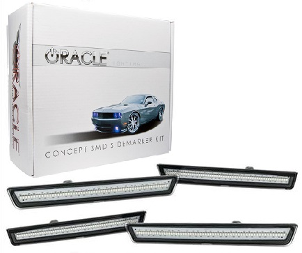 2008-14 Dodge Challenger Clear LED Front & Rear Side Markers
