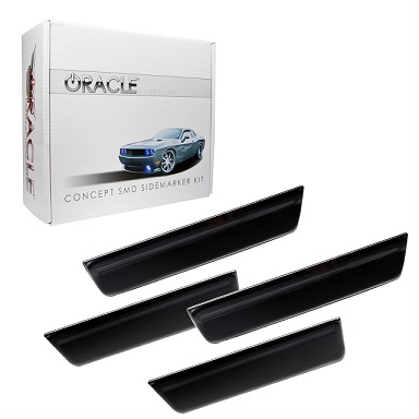 2008-14 Dodge Challenger Smoke LED Front & Rear Side Markers