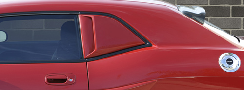 Side Quarter Window Scoops Kit 08-up Dodge Challenger