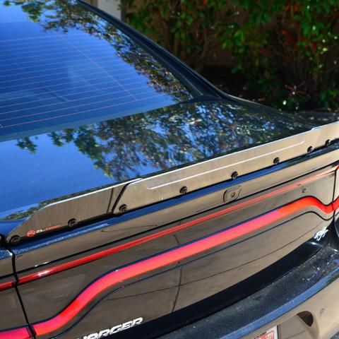 Black-Clear 15-up Dodge Charger R/T Type Spoiler Wicker Bill