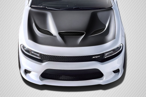 Carbon Fiber Hellcat Style Hood 15-up Dodge Charger