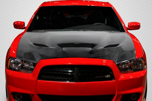 Carbon Fiber Hellcat Style Hood 11-14 Dodge Charger