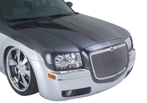 QAA Polished Stainless Front Bumper Cap 05-10 Chrysler 300