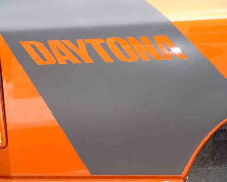 Daytona Custom Body Stripe Decals with OPTIONAL Build Number