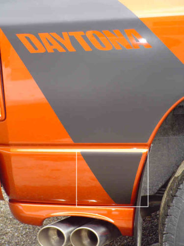Daytona Custom Body Stripe Extension Decals