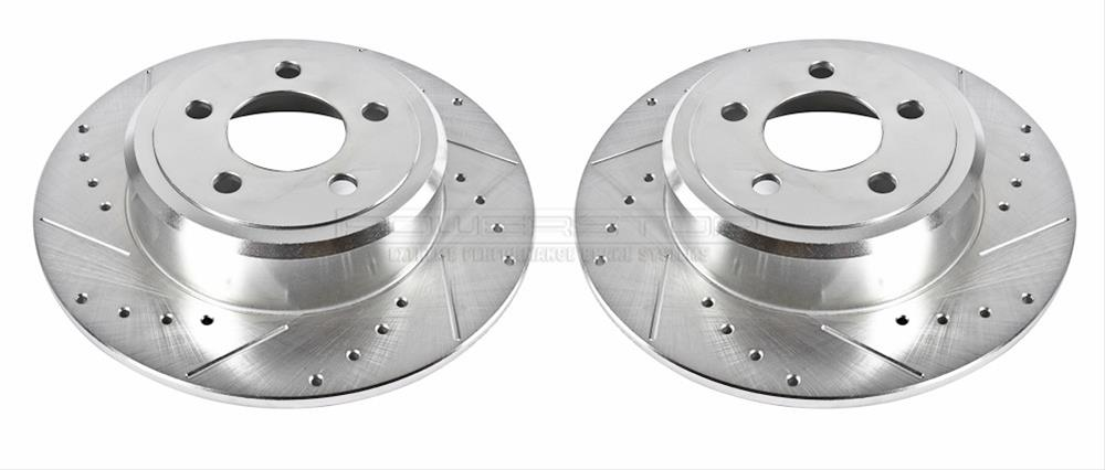 Evolution Rear Drilled & Slotted Rotors 05-up LX Cars 12.6 Rotor