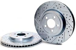 Baer Sport Front Drilled-Slotted Brake Rotors 05-up LX Cars 12.6