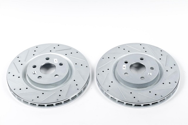 Evolution Front Drilled & Slotted Rotors 05-up LX Car 13.6 Rotor