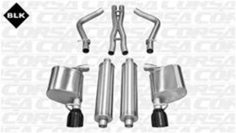 Corsa Xtreme Exhaust System Black Tip 06-10 Dodge Charger 5.7L