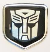 3D Steering Wheel Decal Black Autobot 02-10 Dodge Truck