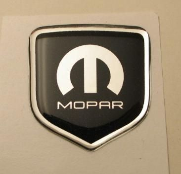 3D Black-Chrome Mopar Steering Wheel Decal 05-10 Dodge Car