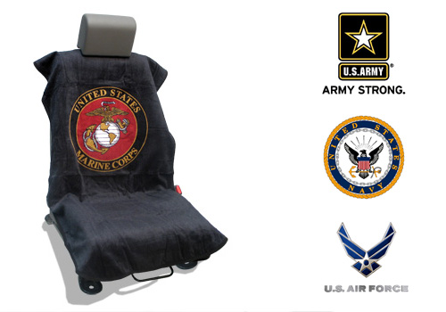 Seat Armour Slip On Seat Cover with Military Logo