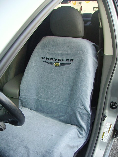 Seat Armour Slip On Seat Cover with Chrysler Logo