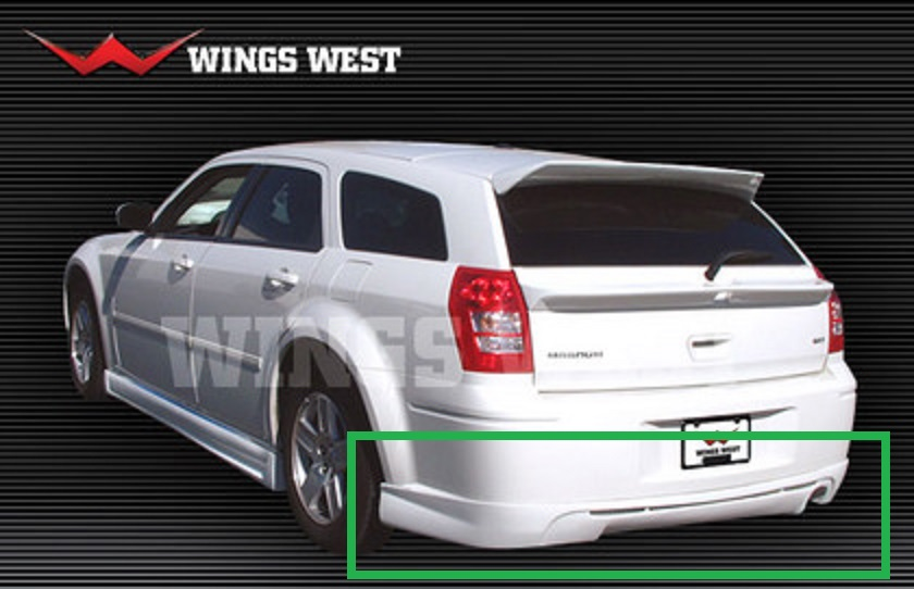 Wings West Rear Lip 05-08 Dodge Magnum Single Exhaust