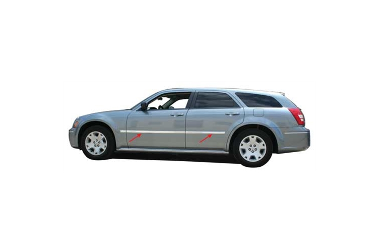 PTWoody Chrome ABS Body Side Molding 05-08 Dodge Magnum