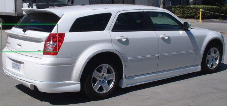 Wings West VIP Rear Mid Wing 05-08 Dodge Magnum