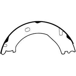 Bendix Parking Brake Shoes 02-08 Ram, 03-09 Durango, Aspen