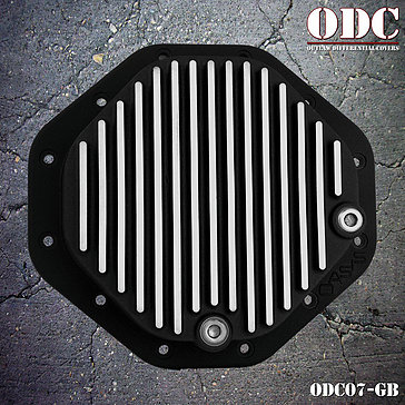 Black Groove Style Chrysler 12 Bolt 9.25 Rear Differential Cover