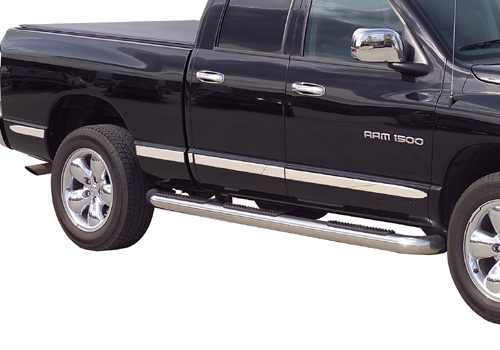 Putco Stainless Body Side Molding 02-08 Dodge Ram Quad Cab
