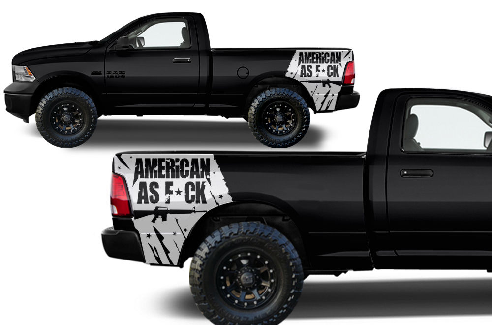Custom American As F**k Body Graphics Decal Kit