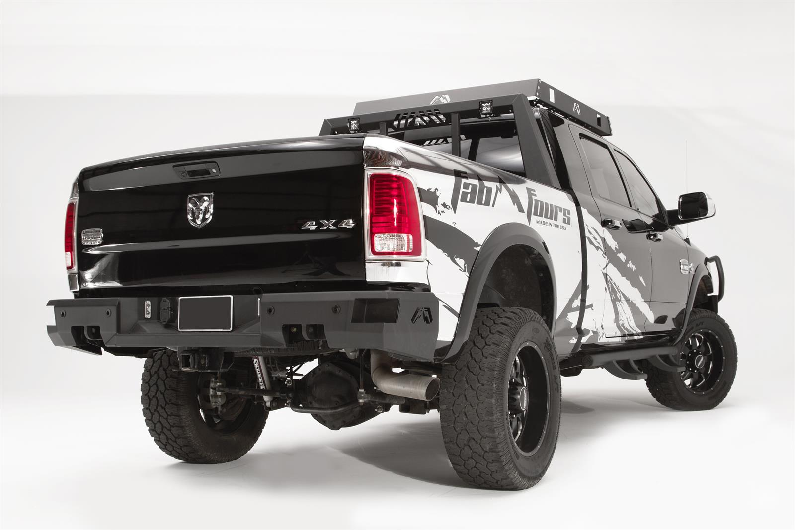 Fab Fours Premium Rear Bumper 2009-18 Dodge Ram