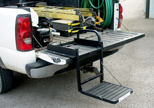Great Day Truck N' Buddy Tailgate Mount Bed Step with Tonneau