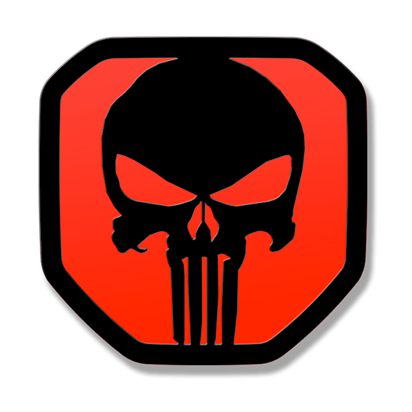 Punisher Tailgate Emblem 2019-up Ram 1500