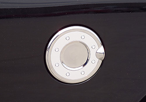 Putco Chrome Fuel Door Cover with Silver Accents 09-18 Dodge Ram