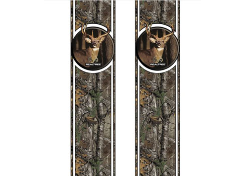 Xtra Camo Pattern with Whitetail Deer Head Bed Stripes