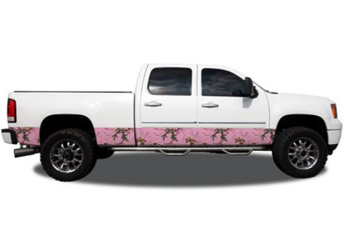 "Xtra Pink Camo Pattern 12"" Wide Rocker Panel Kit"