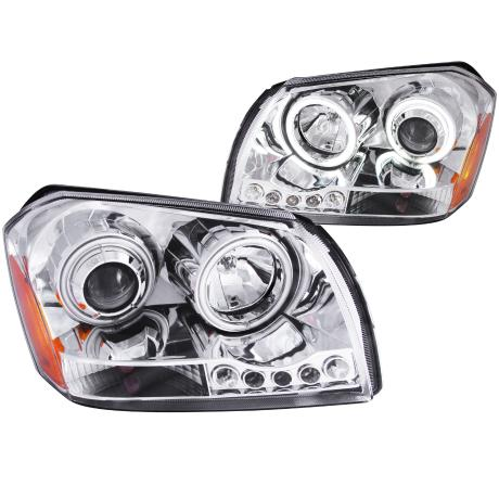Anzo Chrome Projector Headlights 05-07 Dodge Magnum
