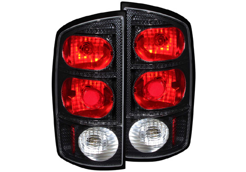 Anzo Carbon Fiber Tail Light Set 02-06 Dodge Ram