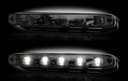 Recon Smoked Lens White LED AUDI Style Daytime Running Lights