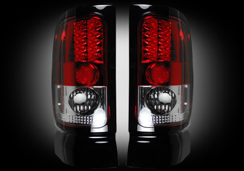 Recon Bright Red LED Tail Light Set 94-02 Dodge Ram