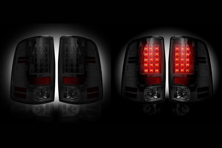 Recon Smoked LED Tail Light Set 07-08 Dodge Ram