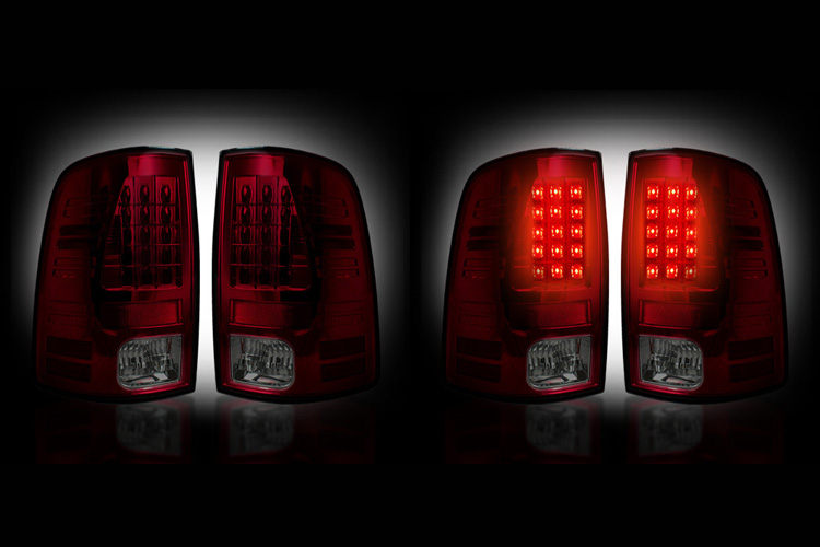Recon Dark Red LED Tail Light Set 07-08 Dodge Ram