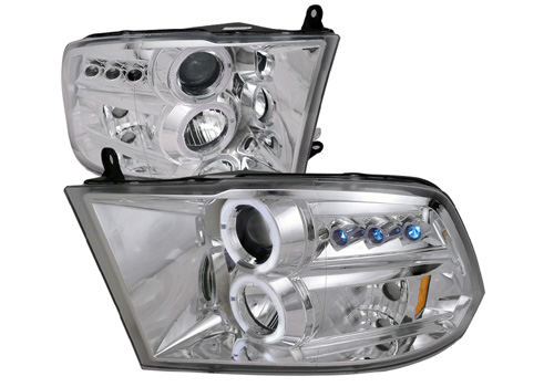 Spec-D Projector Chrome LED Headlights 09-18 DODGE RAM
