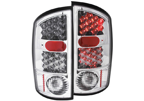 Anzo Chrome LED Tail Light Set 02-06 Dodge Ram