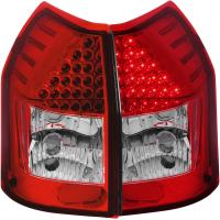 Anzo Red-Clear LED Tail Light Set 05-08 Dodge Magnum