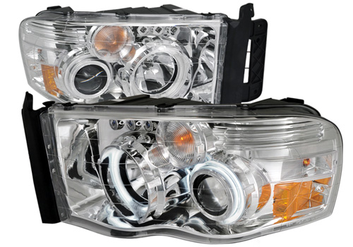 Spec-D Chrome CCFL Projector Headlights 02-05 Dodge Ram