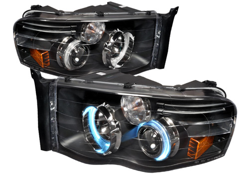 Spec-D Black CCFL Projector Headlights 02-05 Dodge Ram