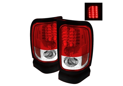 Spyder Red Clear LED Tail Light Set 05-08 Dodge Magnum