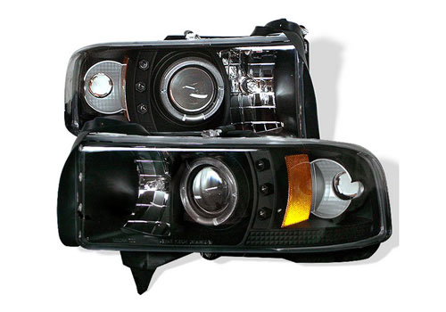 Spyder Projector Black CCFL Headlights 94-01 DODGE RAM NON-Sport
