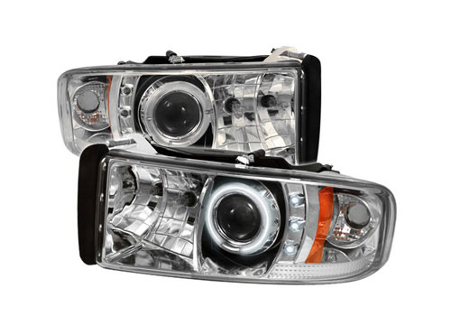 Spyder Projector Chrome CCFL Headlights 94-01 DODGE RAM NO-Sport