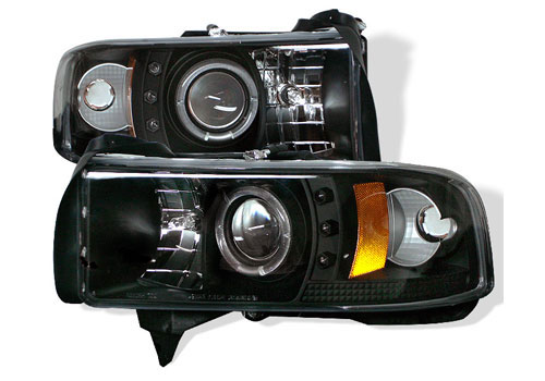 Spyder Projector Black LED Headlights 94-01 DODGE RAM NON-Sport