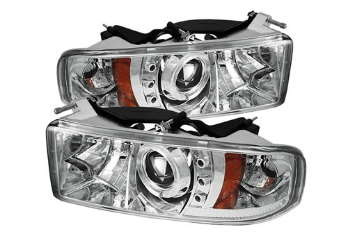 Spyder Projector Chrome LED Headlights 94-01 DODGE RAM NON-Sport