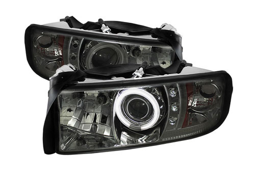Spyder Projector Smoke CCFL Headlights 94-01 DODGE RAM NON-Sport